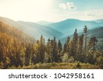 magnificent panoramic view the... | Shutterstock . vector #1042958161