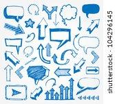 arrows and speech bubbles set | Shutterstock .eps vector #104296145