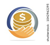 icon logo for fundraising ... | Shutterstock .eps vector #1042962295