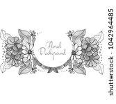 beautiful decorative wedding... | Shutterstock .eps vector #1042964485