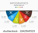 infographic template. vector... | Shutterstock .eps vector #1042969525