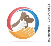 logo icon for pet care | Shutterstock .eps vector #1042970635