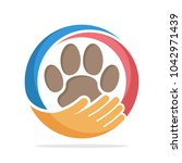 logo icon for pet care | Shutterstock .eps vector #1042971439