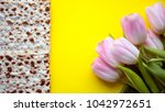 matzah for passover and pink... | Shutterstock . vector #1042972651
