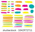 collection of hand drawn... | Shutterstock .eps vector #1042972711