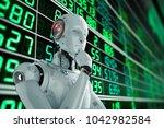 3d rendering humanoid robot... | Shutterstock . vector #1042982584