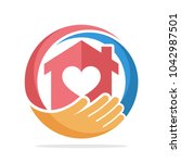 icon logo with the concept of... | Shutterstock .eps vector #1042987501