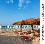 morning paradise white sandy... | Shutterstock . vector #1042988305