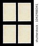 vintage blank postage stamp on... | Shutterstock . vector #1042988341