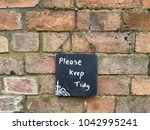 Small photo of Please Keep Tidy Sign