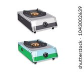 kitchen stove vector | Shutterstock .eps vector #1043002639