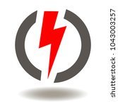 flash lightning icon vector.... | Shutterstock .eps vector #1043003257
