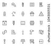 electrician outline icons set.... | Shutterstock .eps vector #1043005531