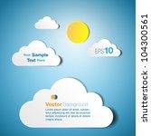 cloud text box   paper cutout...   Shutterstock .eps vector #104300561