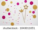 confetti. festive mood. party . ... | Shutterstock . vector #1043011051