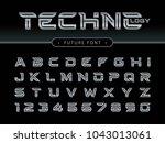 vector of futuristic alphabet...   Shutterstock .eps vector #1043013061