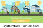 buy the house of your dreams ...   Shutterstock .eps vector #1043015821