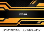 tech black background with... | Shutterstock .eps vector #1043016349