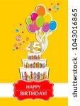 45 years anniversary. happy... | Shutterstock .eps vector #1043016865