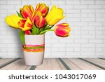 Bouquet Of Spring Tulips In A...