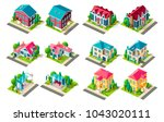 set vector isolated isometric... | Shutterstock .eps vector #1043020111