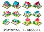 set vector isolated isometric... | Shutterstock .eps vector #1043020111