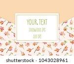 colorful frame for invitation... | Shutterstock . vector #1043028961