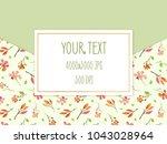 colorful frame for invitation... | Shutterstock . vector #1043028964