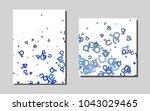 dark bluevector pattern for... | Shutterstock .eps vector #1043029465