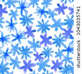 seamless floral pattern with... | Shutterstock . vector #1043035741