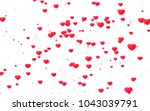 red and pink heart. valentine's ... | Shutterstock . vector #1043039791