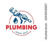 plumbing logo template   Shutterstock .eps vector #1043043007
