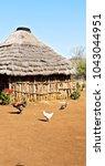 blur  in lesotho malealea... | Shutterstock . vector #1043044951