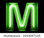 neon green light alphabet... | Shutterstock . vector #1043047135
