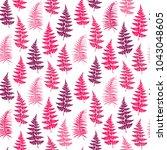 fern frond herbs  tropical...   Shutterstock .eps vector #1043048605