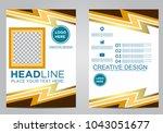 business brochure flyer design... | Shutterstock .eps vector #1043051677
