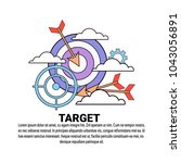 business target strategy... | Shutterstock .eps vector #1043056891