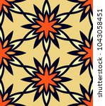 seamless pattern moroccan... | Shutterstock .eps vector #1043058451
