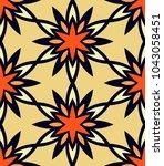 seamless pattern moroccan... | Shutterstock .eps vector #1043058451