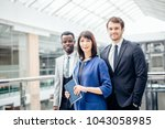 group of businesspeople... | Shutterstock . vector #1043058985