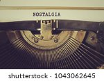 old typewriter writes word ... | Shutterstock . vector #1043062645