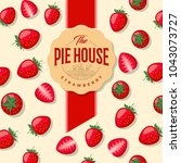 pie house packaging. label for... | Shutterstock .eps vector #1043073727