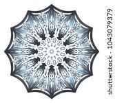 decorative round ornament. anti ... | Shutterstock .eps vector #1043079379