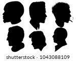 portrait of men  a men in... | Shutterstock .eps vector #1043088109