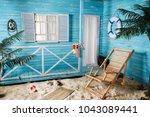 Indoor Room With Deck Chair...