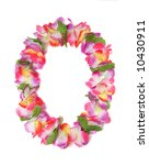 a colorful hawaiian lei with... | Shutterstock . vector #10430911