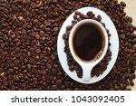 black coffee background   Shutterstock . vector #1043092405
