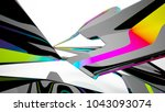abstract dynamic interior with... | Shutterstock . vector #1043093074