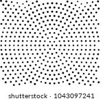 black and white radial halftone ... | Shutterstock .eps vector #1043097241