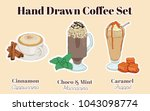 hand drawn colorful sketchy... | Shutterstock .eps vector #1043098774